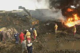 В Ираке тушат нефтяные скважины, которые подожгло ИГИЛ