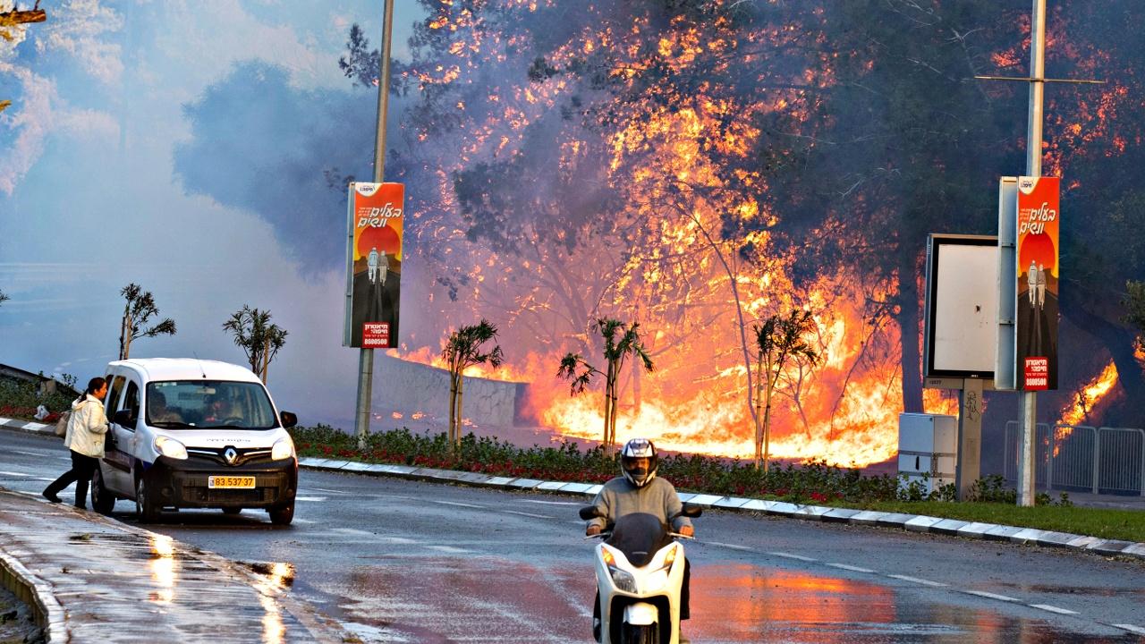 Пожары в Израиле: в Хайфе сгорели сотни домов