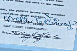 Завещание Уолта Диснея уйдет с молотка в Лос-Анджелесе