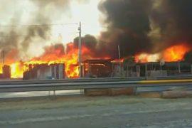 Лесные пожары в Чили наступают на города