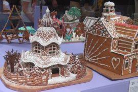 Пряничные домики и города выпекли к Рождеству в Швеции