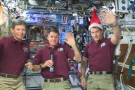 Экипаж МКС поздравил землян с Рождеством