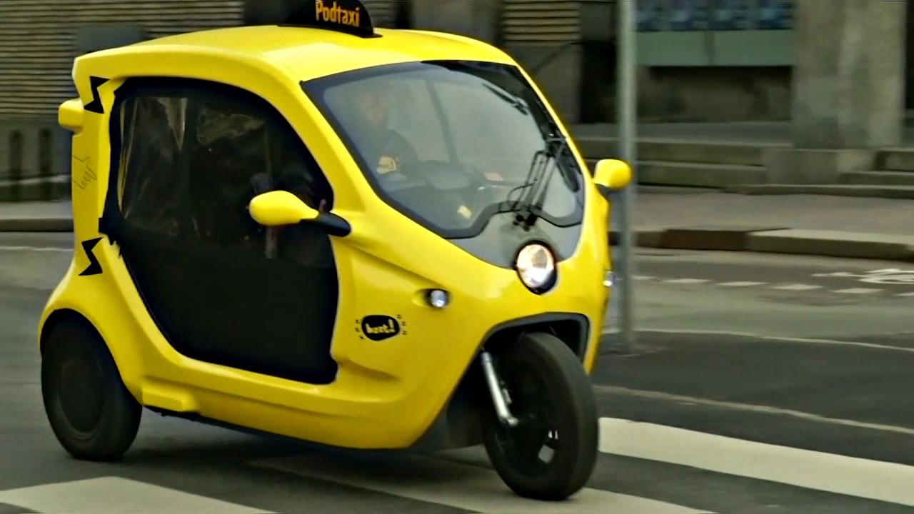 В Швеции услуги такси предоставляют на экологичных моторикшах