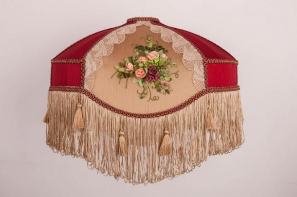 Абажур для подвеса «Марлин» цвет бордо