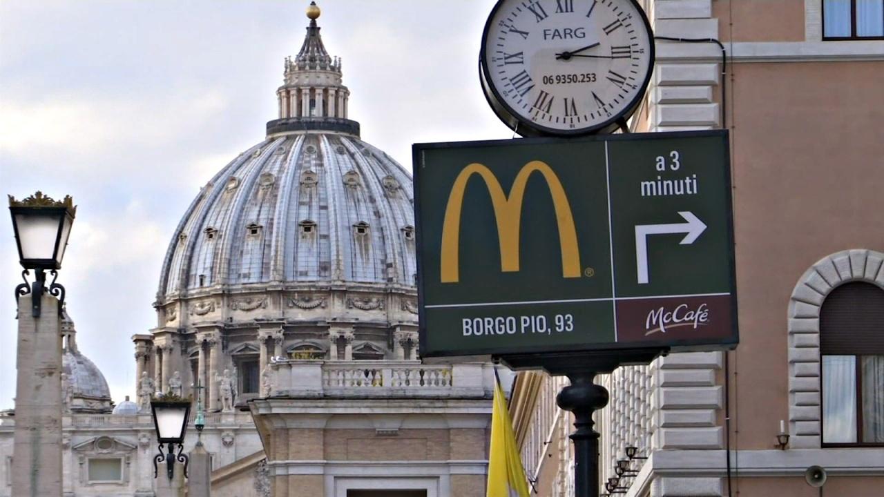 Открытие «Макдоналдса» рядом с Ватиканом вызвало споры