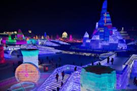 Харбин: грандиозная выставка ледяных скульптур