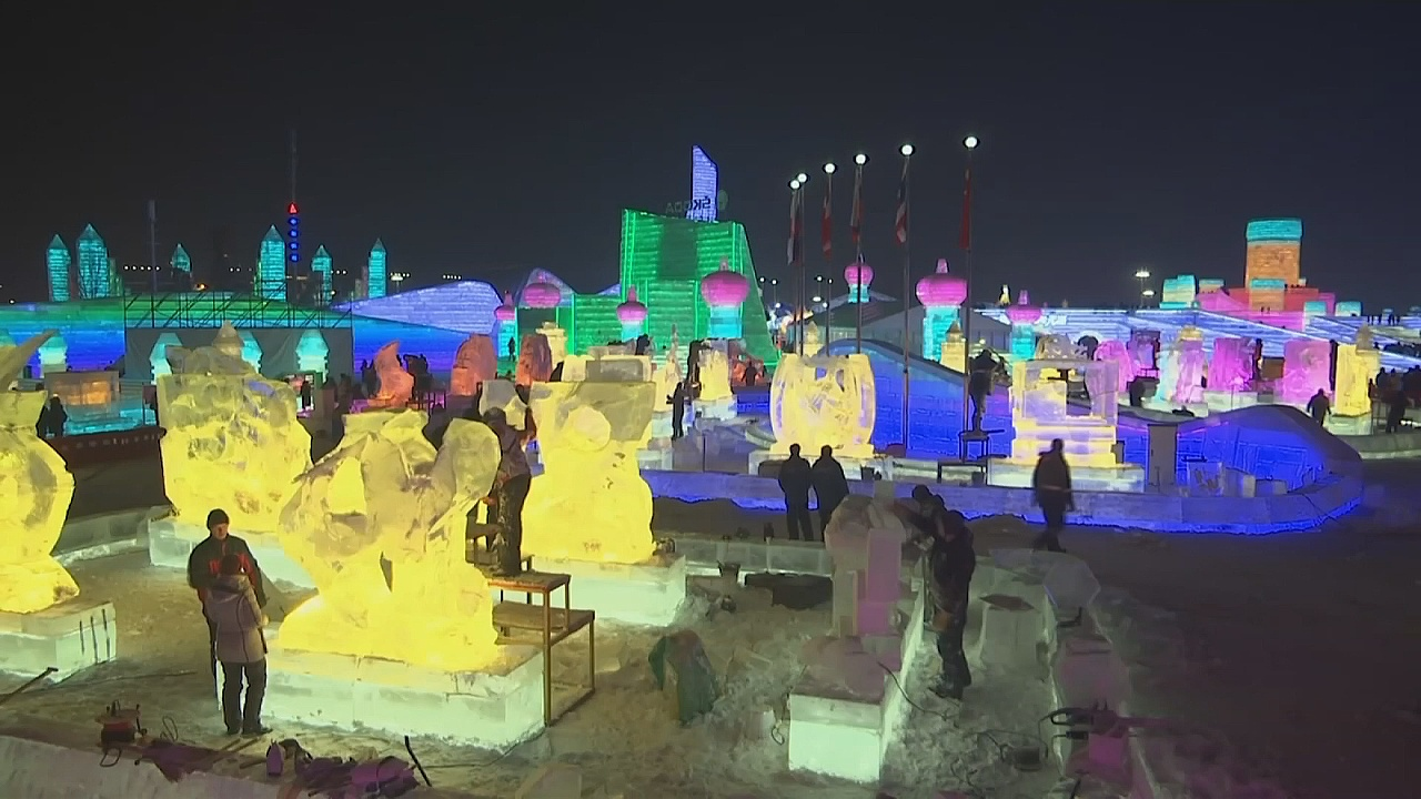 Харбин: конкурс скульптур изо льда
