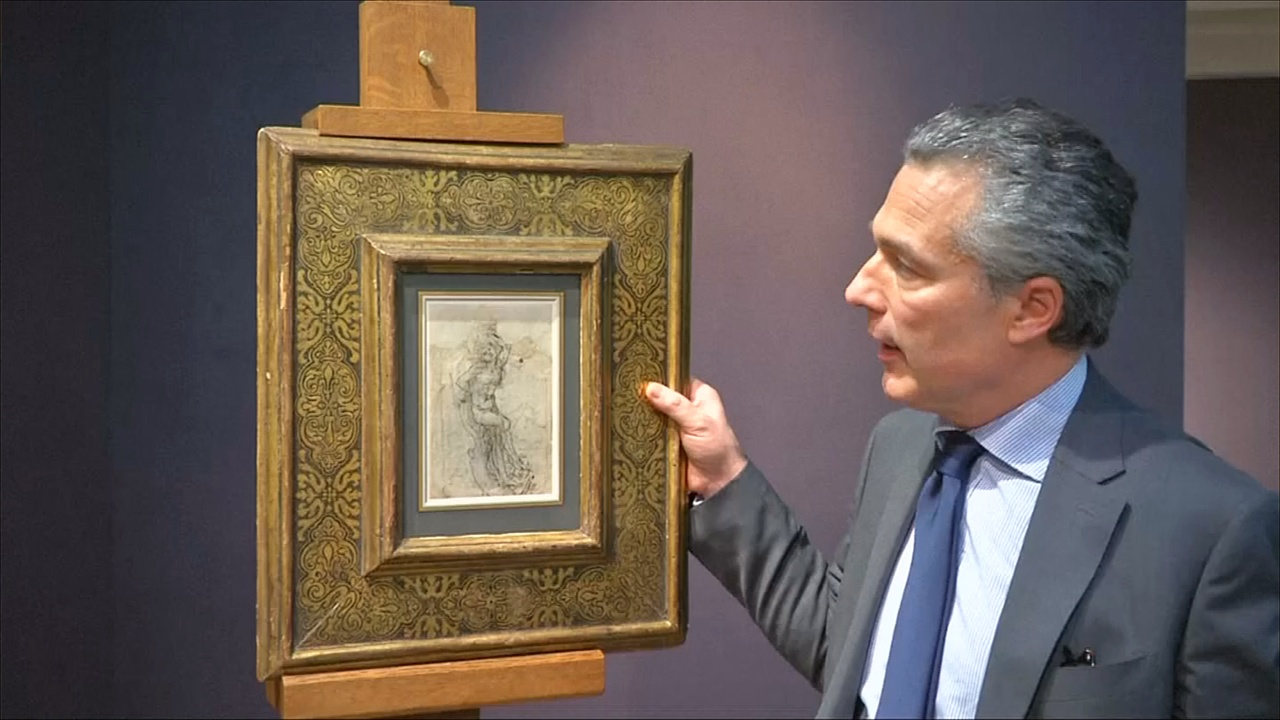 Аукционисты показали неизвестный ранее рисунок да Винчи