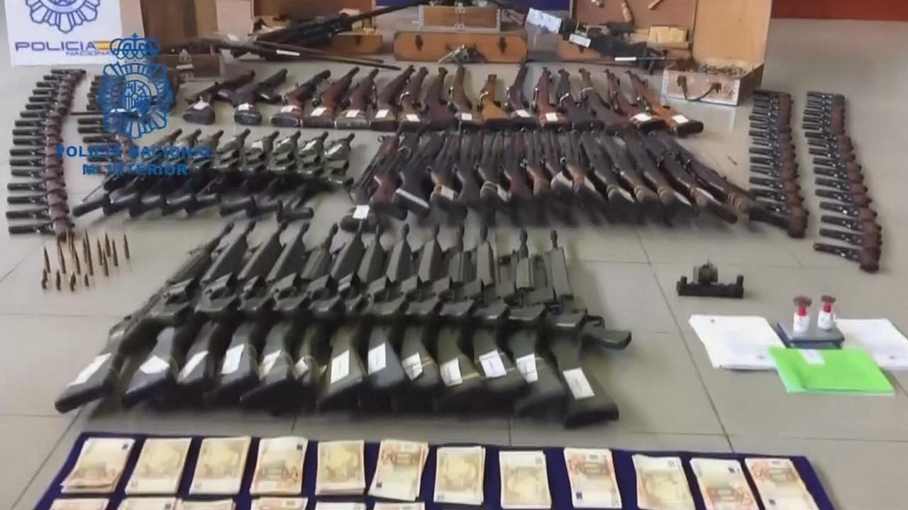 Испанская полиция изъяла оружия на 10 млн евро
