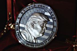 Монету с изображением Трампа сделали в России