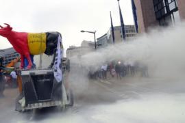 В центре Брюсселя распылили тонну сухого молока