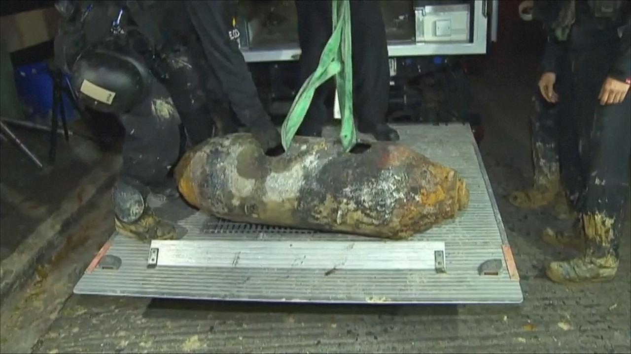 Бомбу времён Второй мировой нашли в Гонконге