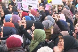 Австрия: 3000 человек вышли с протестом против запрета на никабы