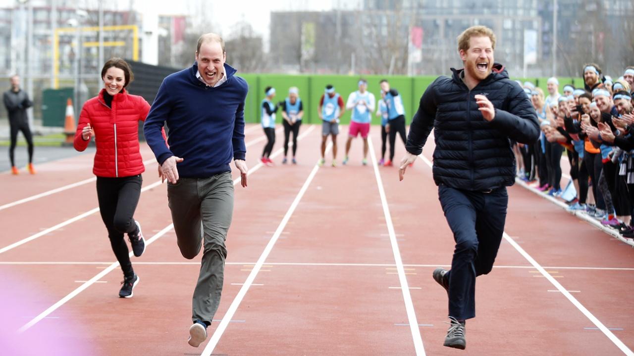 Кейт, Уильям и Гарри посетили тренировку к Лондонскому марафону