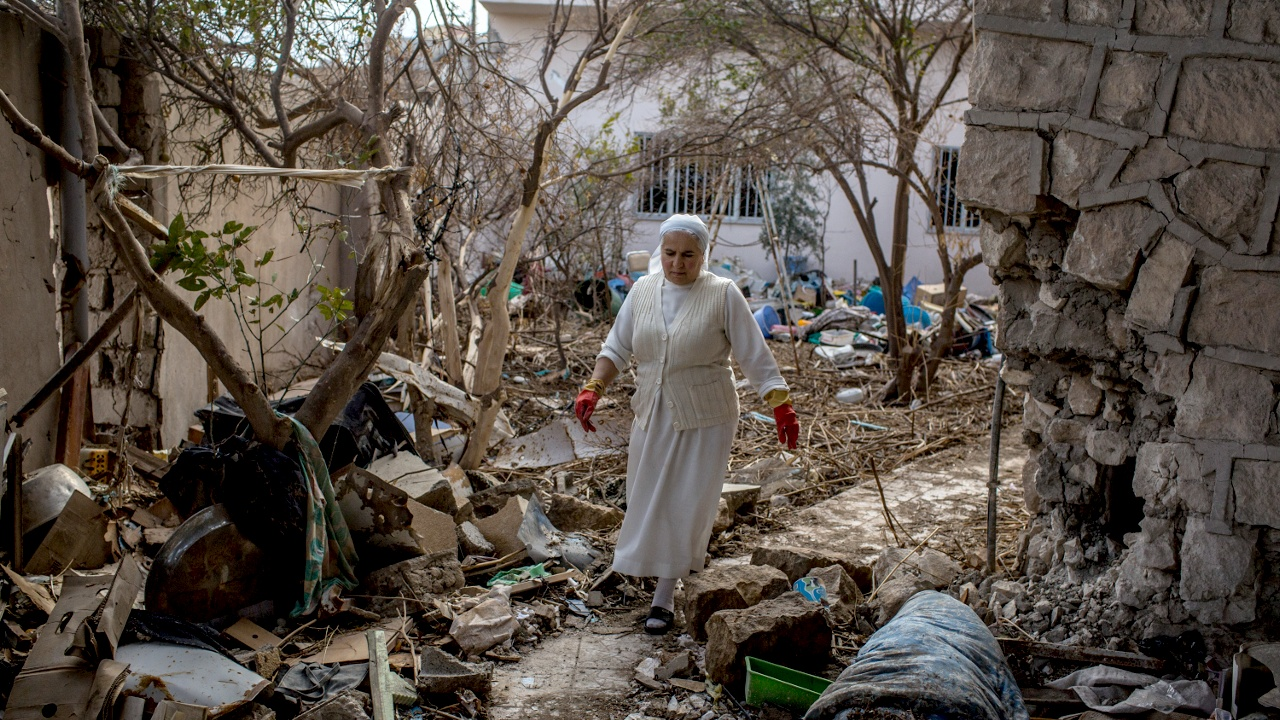 Освобождённый от ИГИЛ христианский город — в руинах