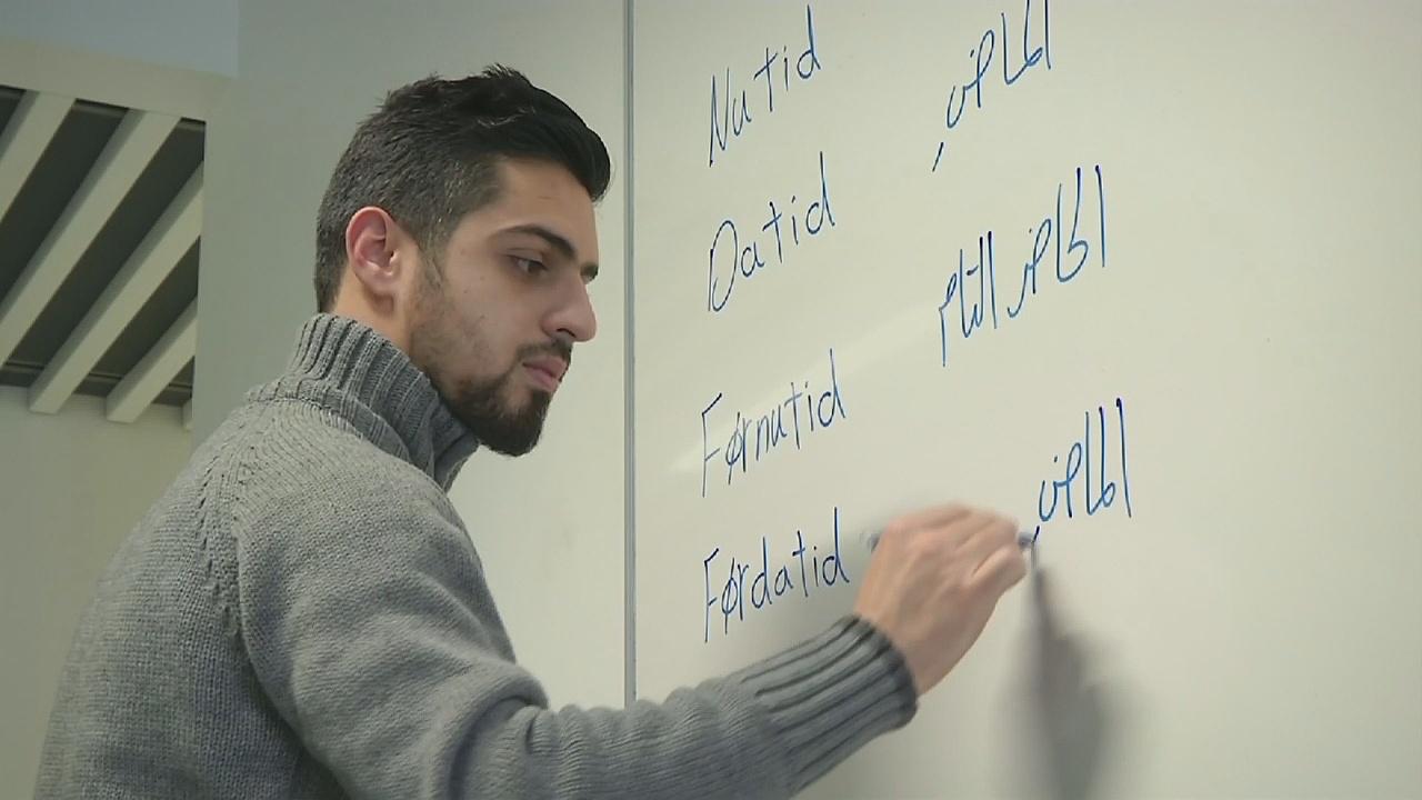 Сирийский беженец стал звездой, обучая датскому языку