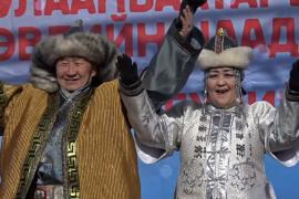 Фестиваль зимы проходит в Монголии при 20-градусных морозах