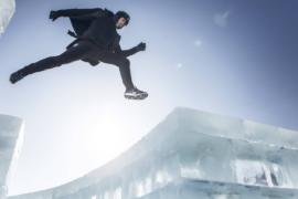 Фриранер показал трюки в ледовом городе Харбина