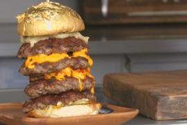 «Золотой» гамбургер сделали в Дубае