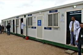 Сирийских беженцев на границе Иордании лечат в медцентре ООН