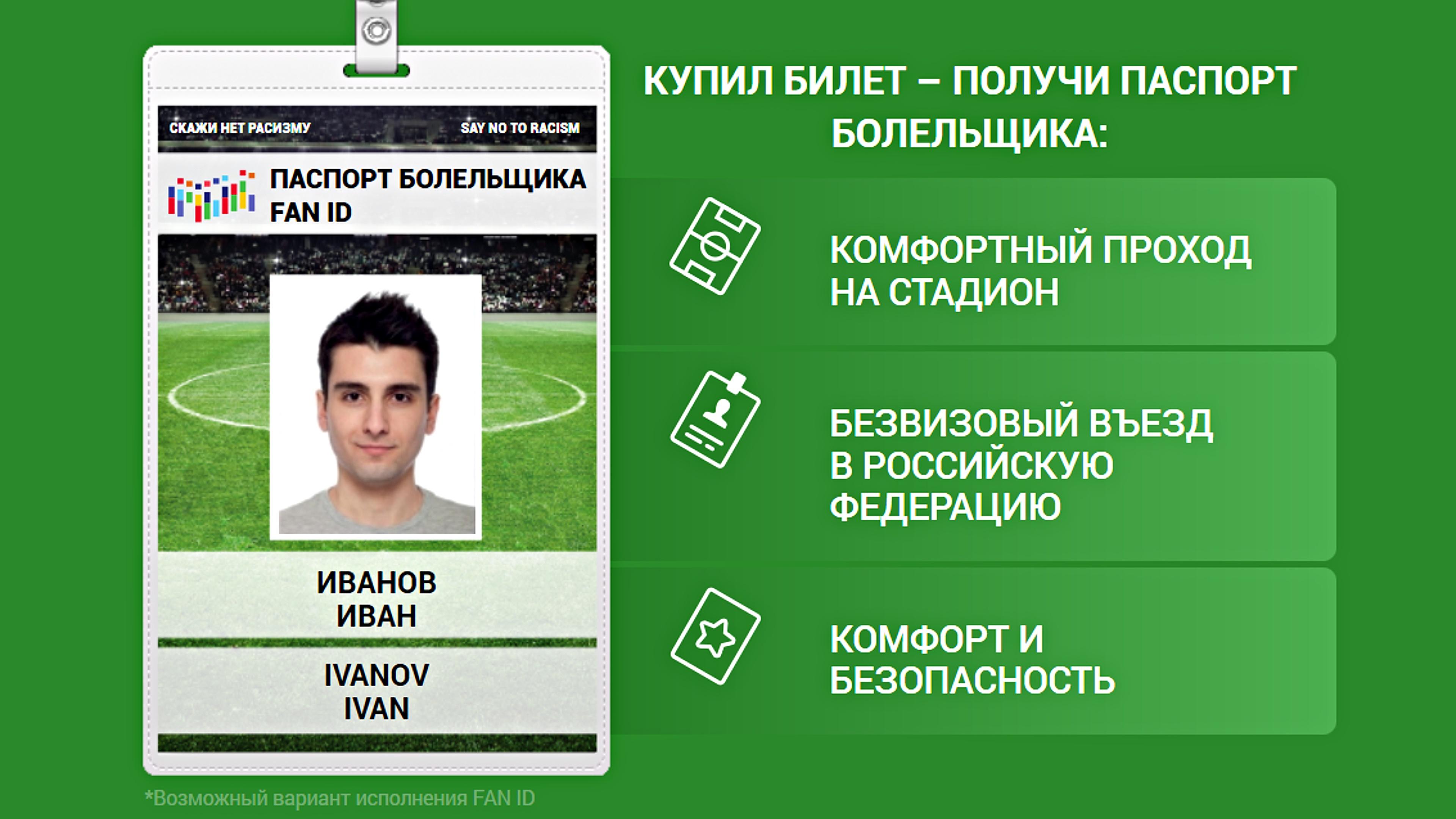 В России выдают паспорта футбольных болельщиков