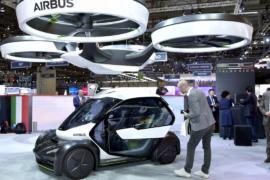 Летающий концепт-кар представили на автошоу в Женеве