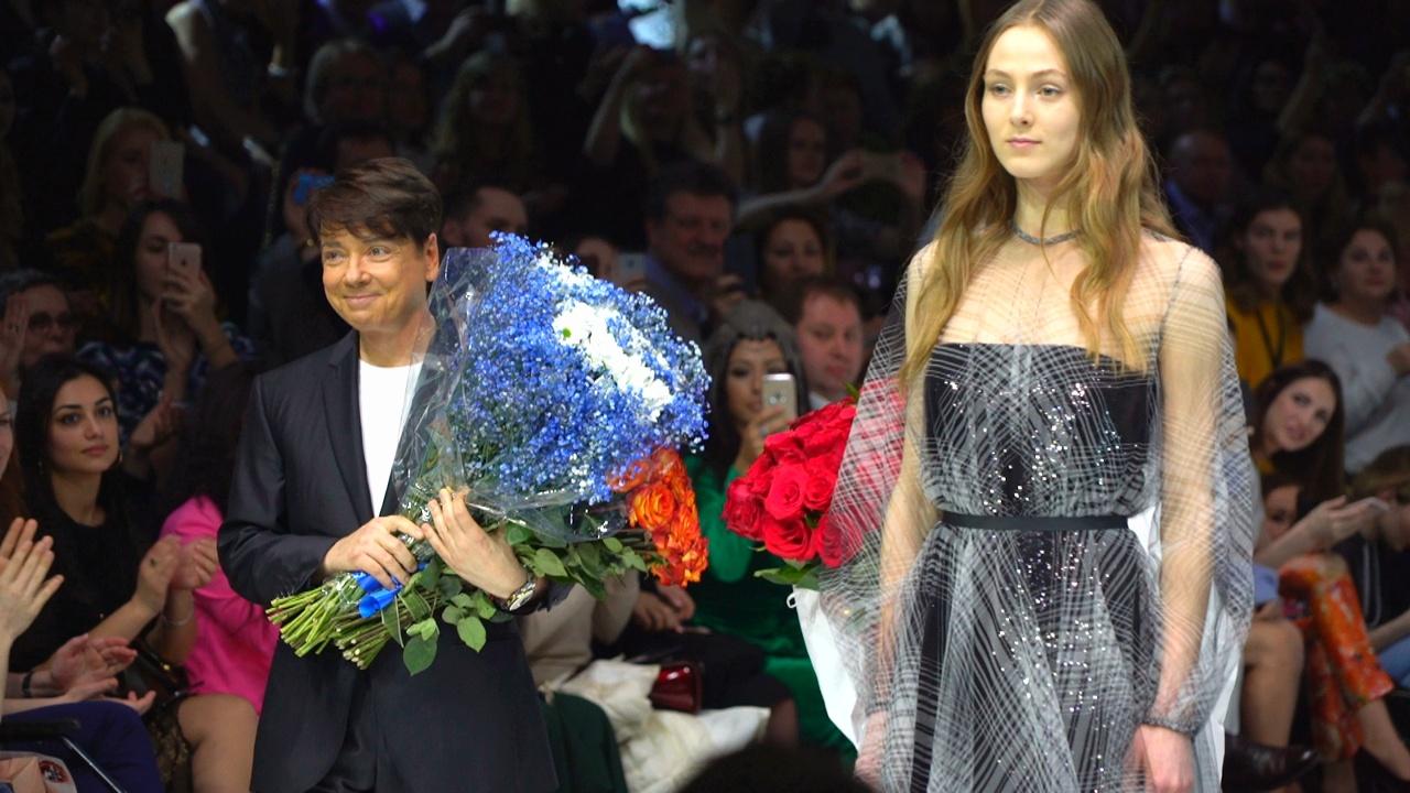 Валентин Юдашкин и Виктория Андреянова на Неделе моды в Москве