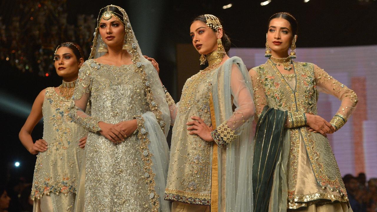 Богатую свадебную моду Пакистана показали в Карачи