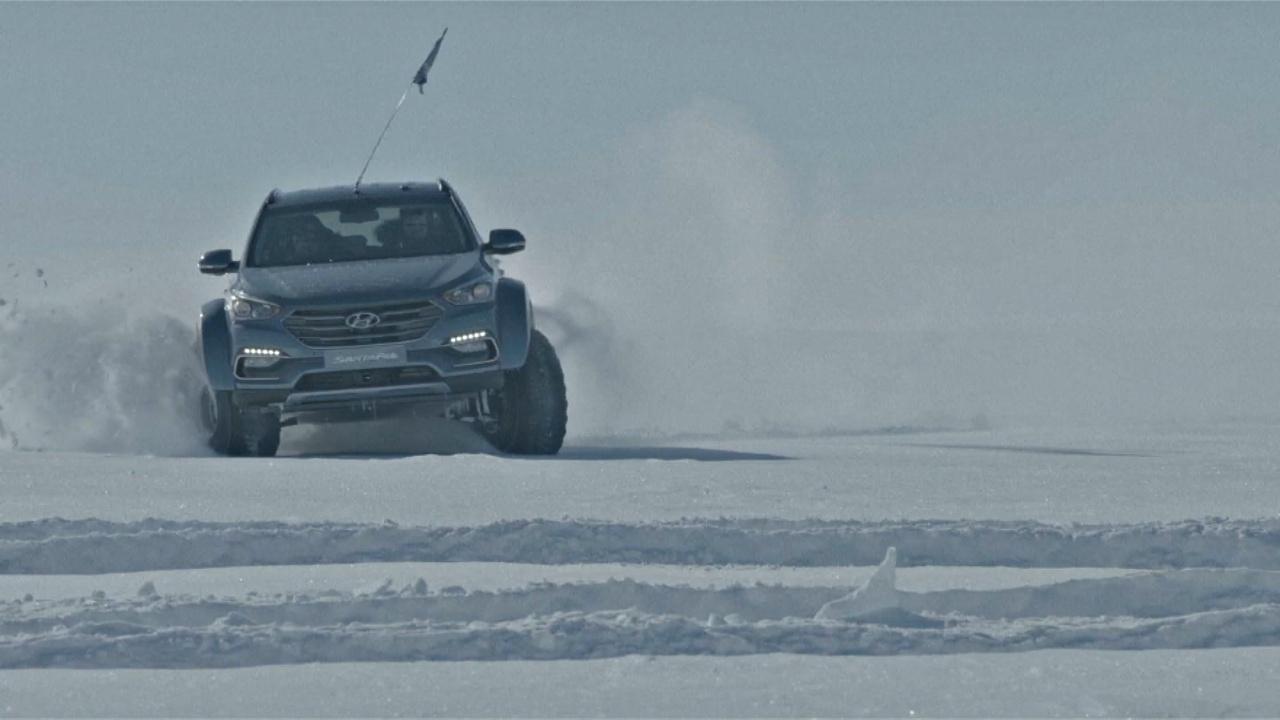 Правнук полярника проехал через Антарктиду на автомобиле