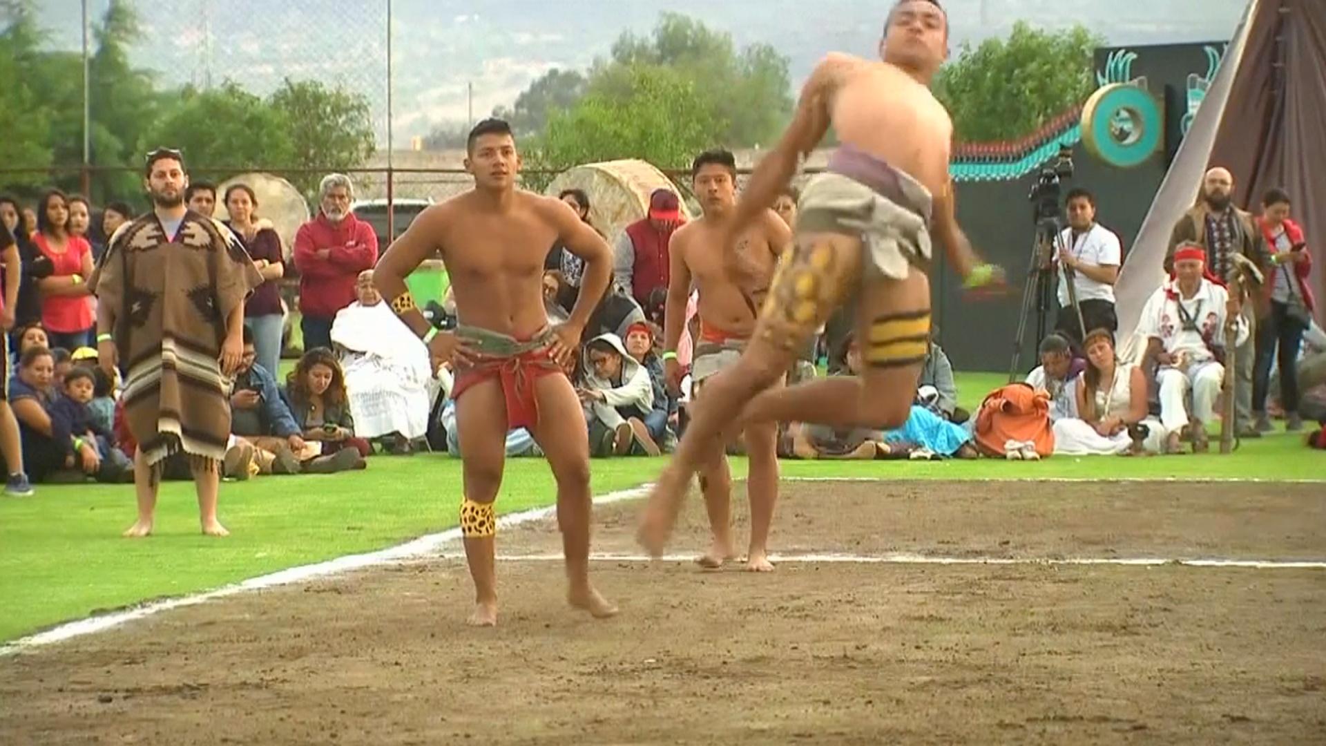 В футбол древних майя сыграли в Теотиуакане