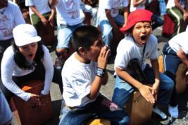 Сотни перуанцев сыграли на кахоне в Лиме
