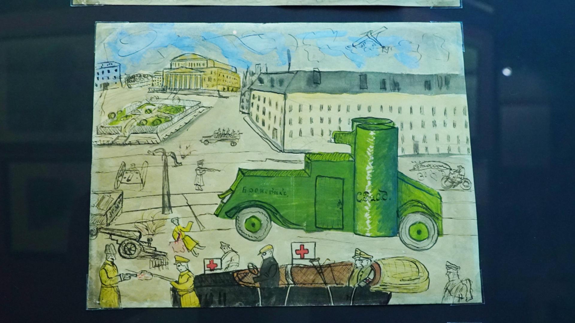 Революции 1917 года в рисунках детей-очевидцев