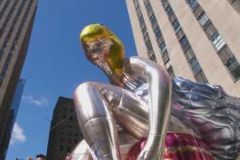 Джефф Кунс представил гигантскую надувную балерину