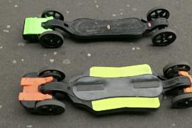 Электронный скейтборд, напечатанный на 3D-принтере