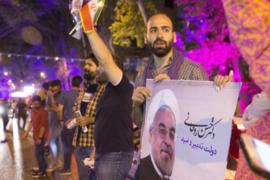 Иранцы празднуют победу Рухани на выборах