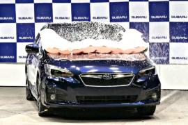 Subaru оснастила кроссовер XV подушкой безопасности для пешеходов