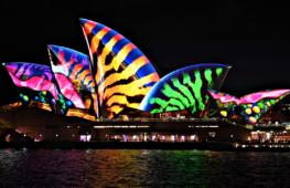 Световое шоу преображает Сидней по ночам