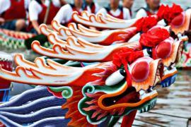 Гонки на лодках-драконах прошли в Тайбэе
