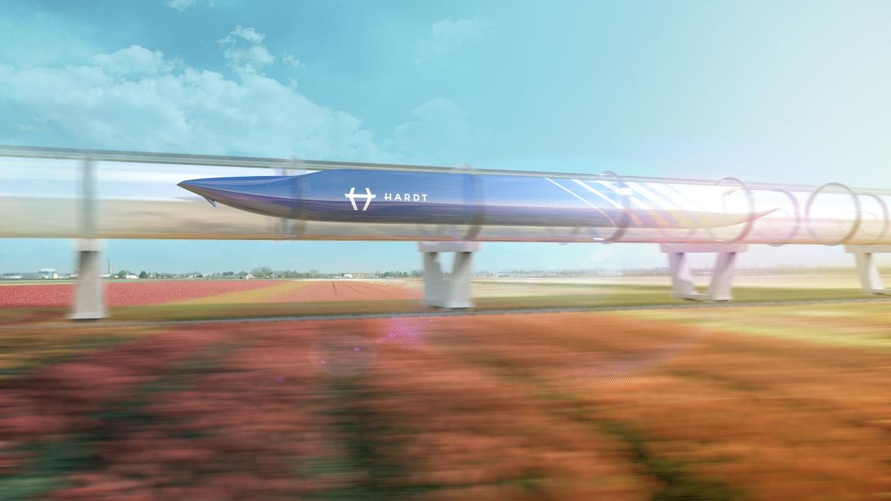 Испытанием вакуумного поезда Hyperloop займутся в Нидерландах