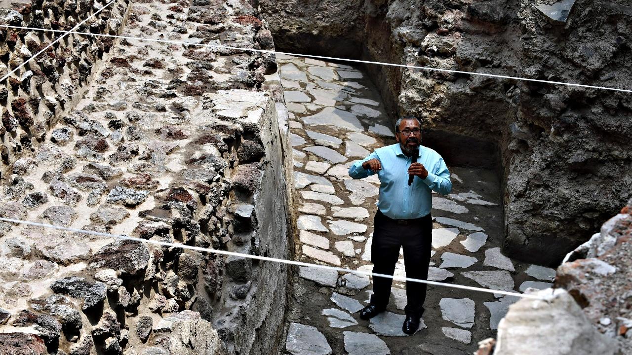 В Мехико раскопали храм Эекатля и спортплощадку ацтеков
