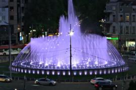 В Белграде появился огромный музыкальный фонтан