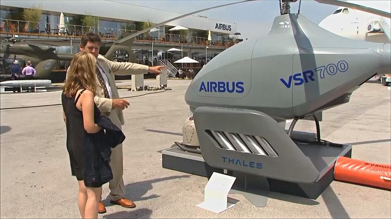 Airbus привезла на Парижский авиасалон беспилотный вертолёт VSR700