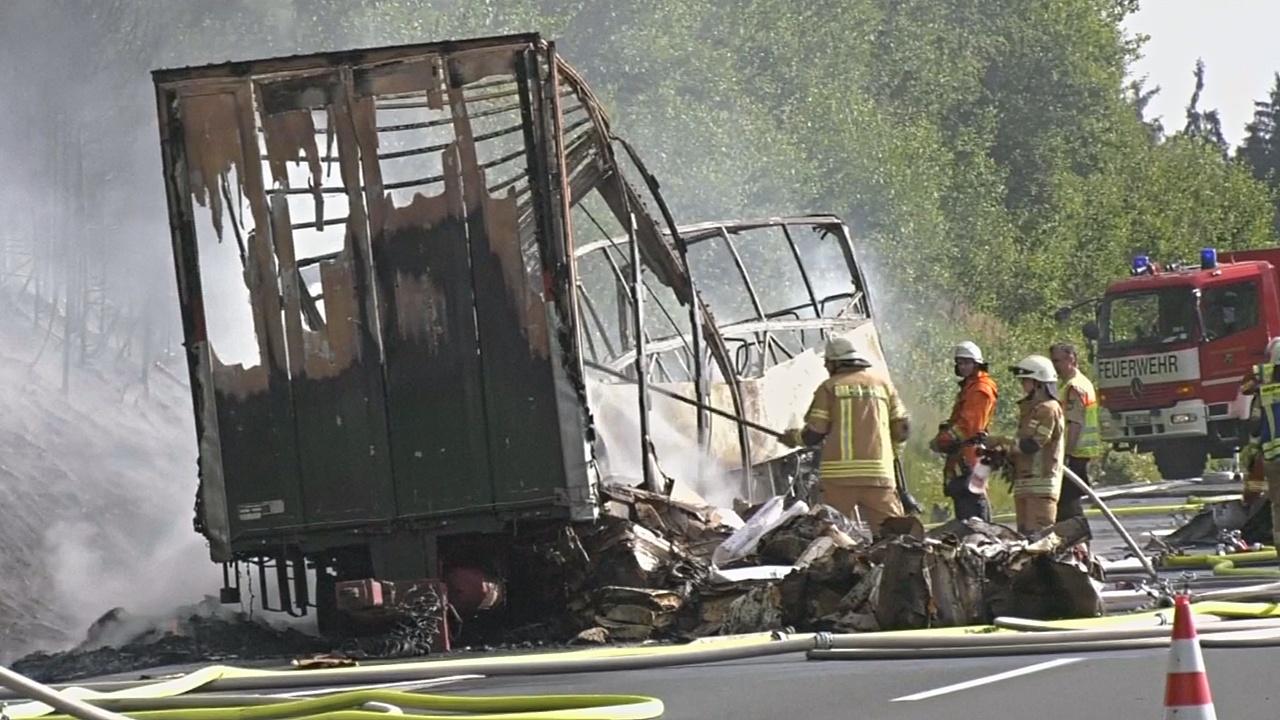 ДТП в Германии: предположительно, 18 погибших
