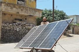 Сирийцы вынуждены пользоваться солнечными панелями
