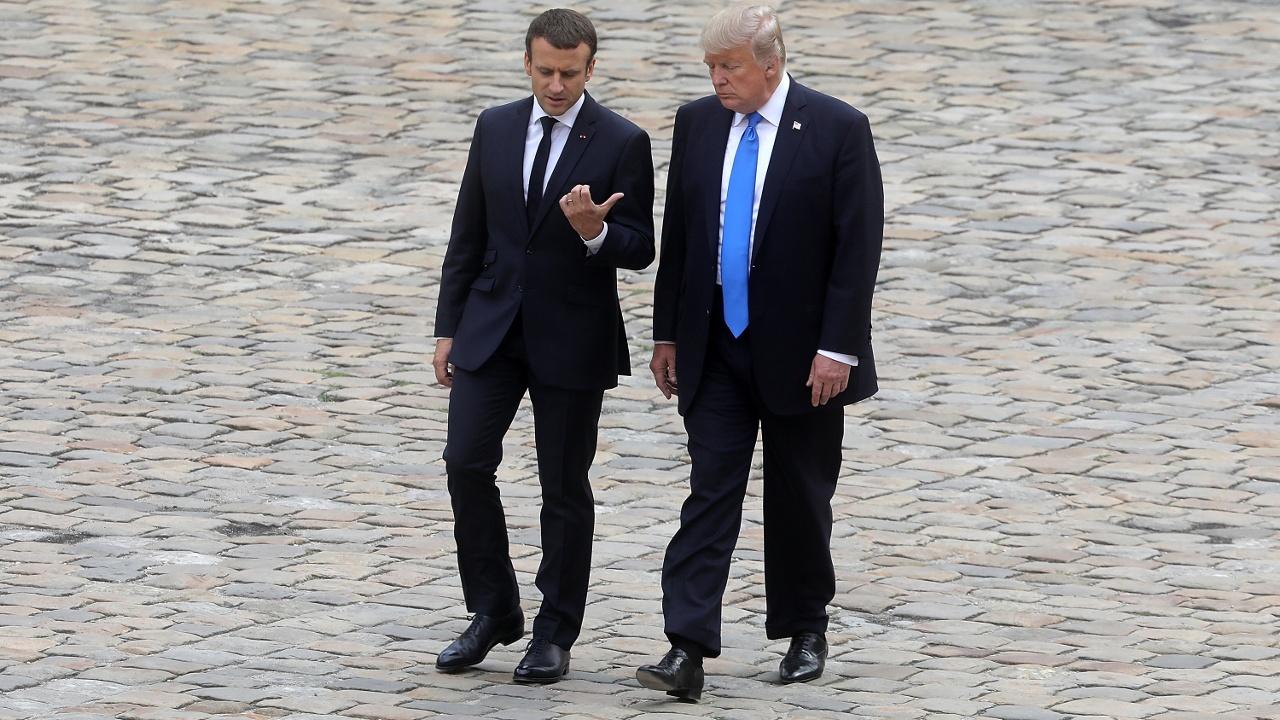 Что обсудили Трамп и Макрон на встрече в Париже