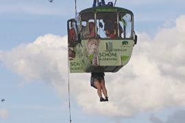 Как в Кёльне спасали пассажиров сломавшейся канатной дороги