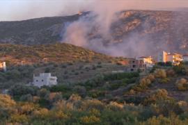 Недалеко от Афин пылает лесной пожар