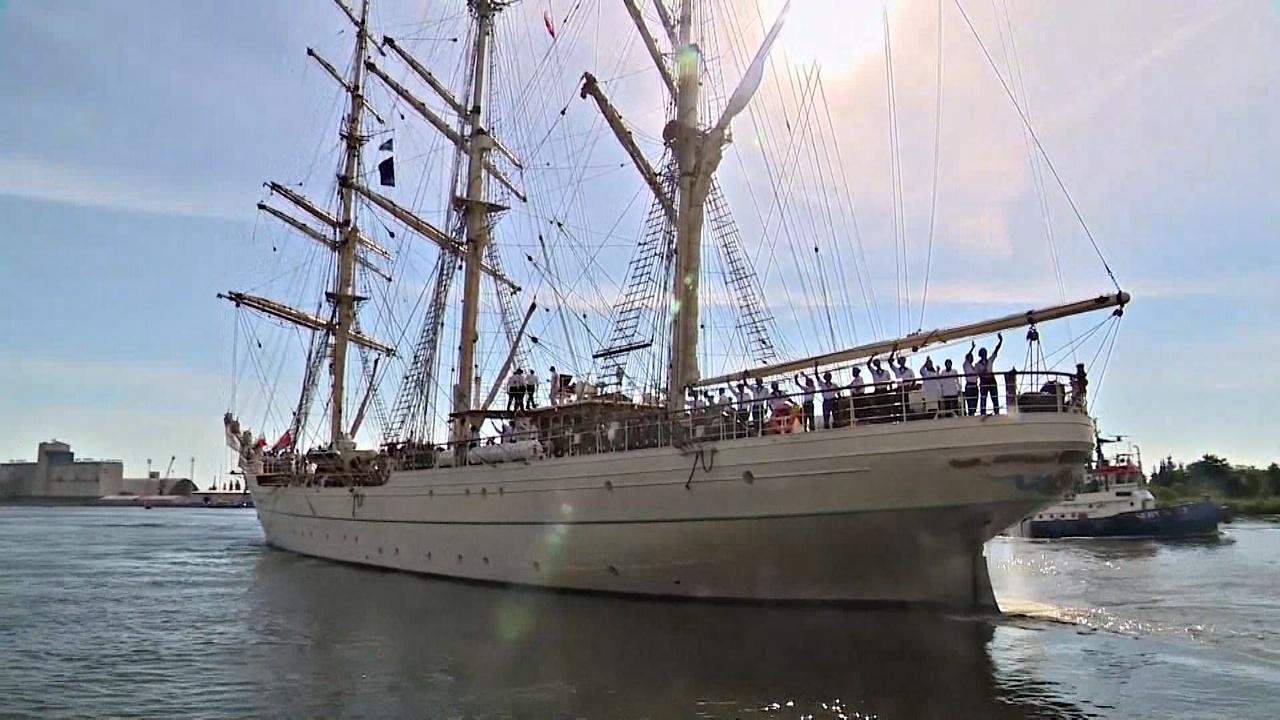 Парусники-участники регаты Tall Ship Races покинули порт Щецина