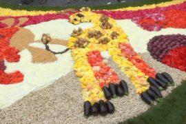 Ковры из цветов и овощей выложили в Брюсселе