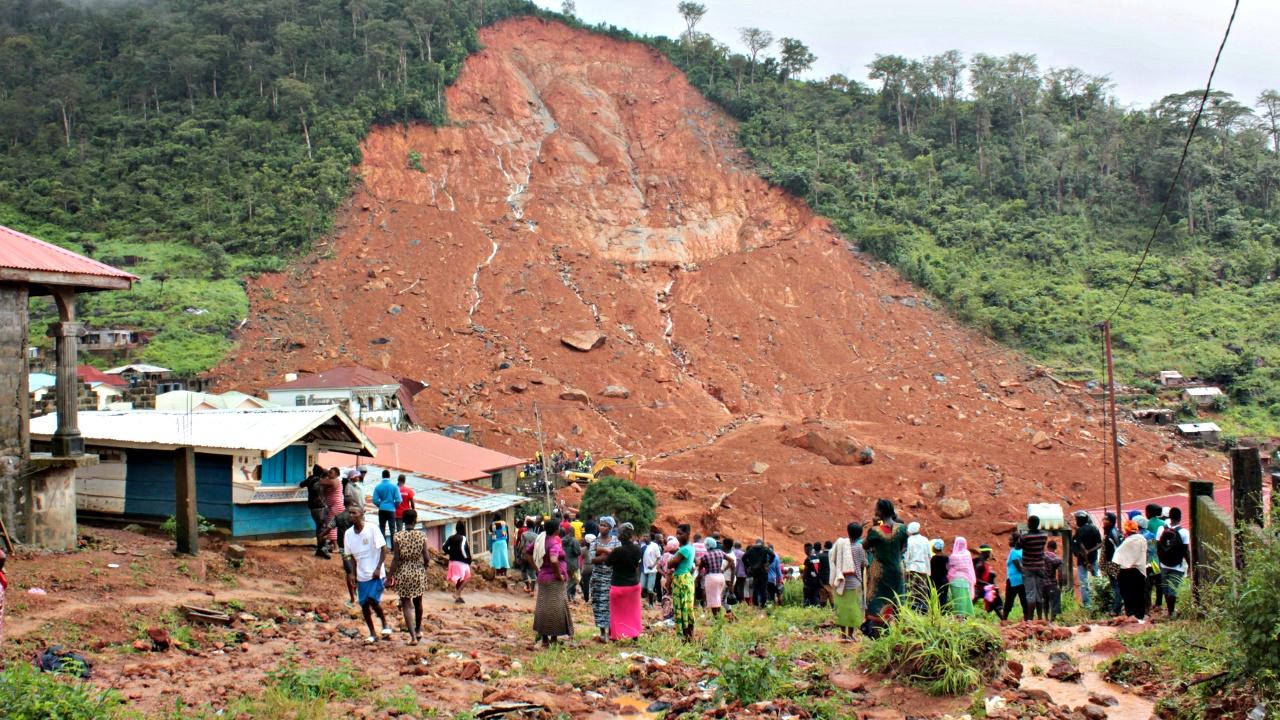 Оползень в Сьерра-Леоне: более 200 погибших